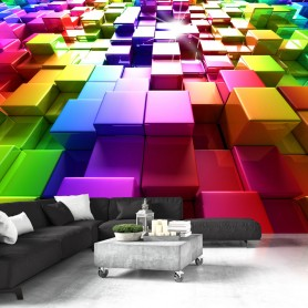 Fototapet - Colored Cubes