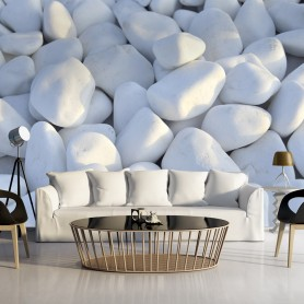 Fototapet - White Pebbles