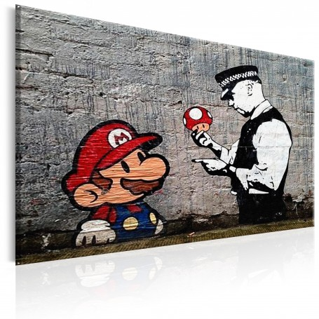 Tavla - Mario and Cop by Banksy