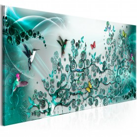 Tavla - Hummingbirds Dance (1 Part) Turquoise Narrow