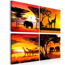 Tavla - African Animals (4 Parts)