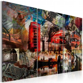 Tavla - London collage - Triptych