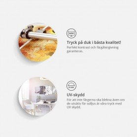 Duschhuvud med LED belysning Squared Eco