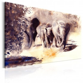 Tavla - Watercolour Elephants