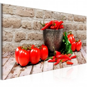 Tavla - Red Vegetables (1 Part) Brick Narrow
