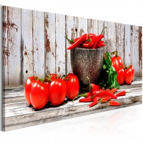 Tavla - Red Vegetables (1 Part) Wood Narrow