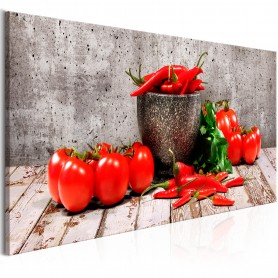 Tavla - Red Vegetables (1 Part) Concrete Narrow