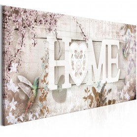 Tavla - Home and Hummingbirds (1 Part) Beige Narrow