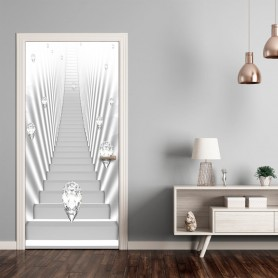 Dörrtapet - Photo wallpaper - White stairs and jewels I