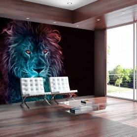 Fototapet - Abstract lion - rainbow