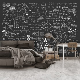 Fototapet - Science on Chalkboard