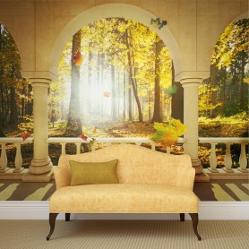 Fototapet - Dream about autumnal forest